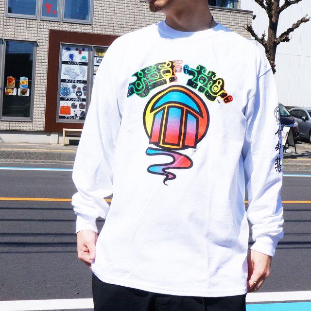 ジェフホー JEFF HO ロンT Tシャツ GRADATION LOGO L/S Tee ホワイト ブラック