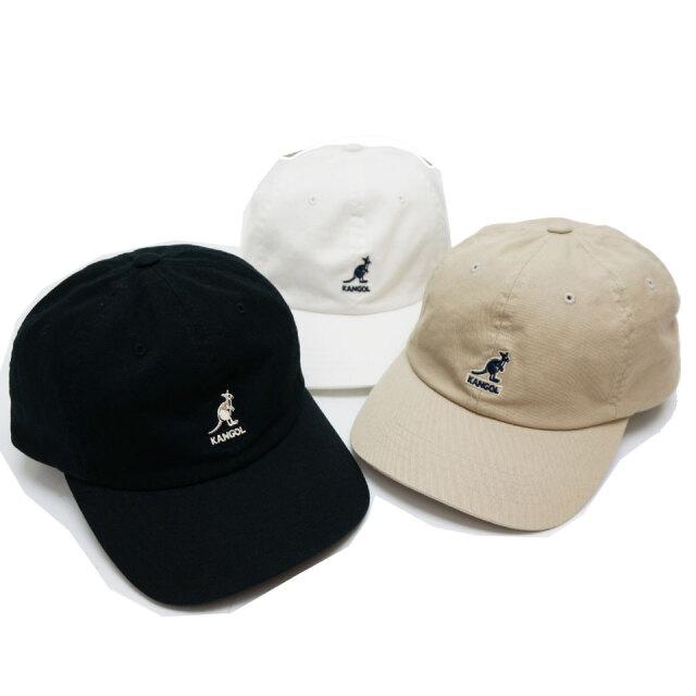 全3色 KANGOL カンゴール キャップ WASHED BASE BALL CAP 帽子 ブラック ホワイト カーキ