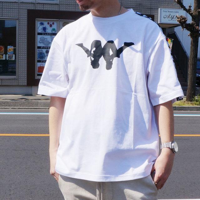 カッパ KAPPA Tシャツ UP&DOWN BANDA Tee ビッグシルエット ホワイト ピンク KLA12TS03