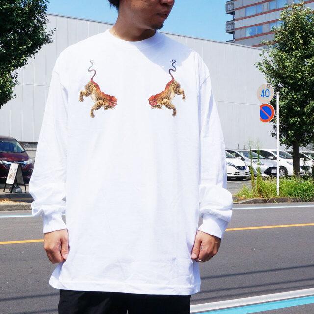 全2色 LONELY論理 ロンリー ロンT Tシャツ NUE TWINS L/S Tee ブラック ホワイト