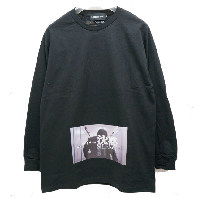 LONELY論理 ロンリー LONELY TK L/S Tee ロンT Tシャツ ブラック