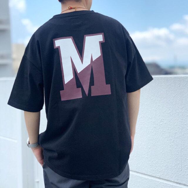 MRV by Mr.vibes Tシャツ MRVIBES COLLEGE LOGO S/S Tee オリジナル ミスターバイブス カレッジロゴ ブラック/バーガンディー 黒 BLACK