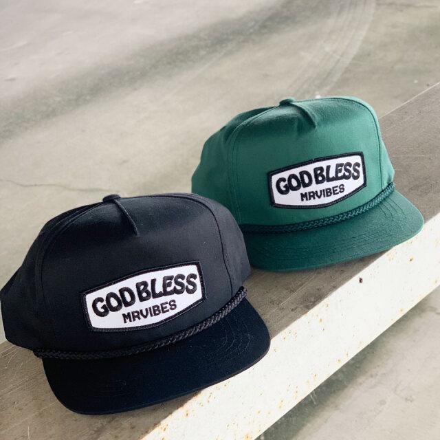 全2色 MRV by Mr.vibes スナップバックキャップ GOD BLESS SNAPBACK CAP 帽子 オリジナル ブラック グリーン
