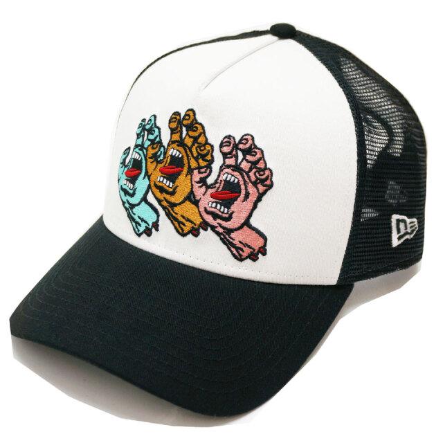 NEW ERA ニューエラ メッシュキャップ 9FORTY A-FRAME SANTA CRUZ 3 SCREAMING HAND 帽子 キャップ ブラック