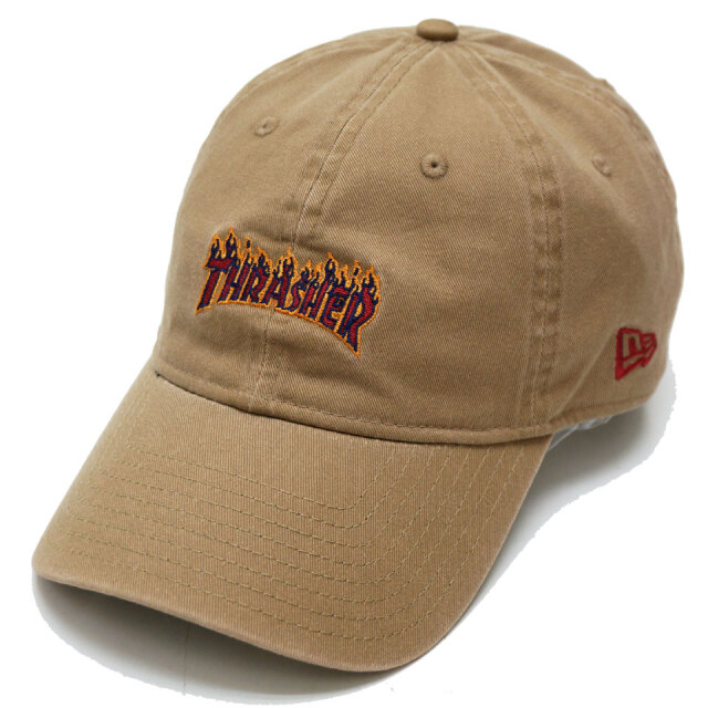 NEW ERA ニューエラ ローキャップ 9THIRTY THRASHER FLAME LOGO CAP カーキ
