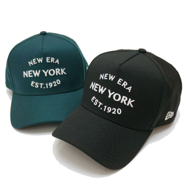 全2色 NEW ERA ニューエラ キャップ 9FORTY A-FRAME NEWERA NEWYORK 1920 ブラック ダークグリーン