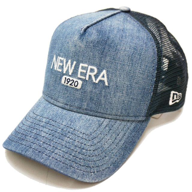 NEW ERA ニューエラ メッシュキャップ 9FORTY A-FRAME WASHED DENIM 帽子 キャップ デニム
