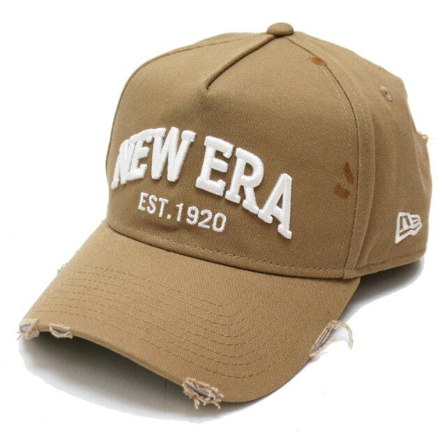 NEW ERA ニューエラ キャップ GOLF 9FORTY A-FRAME NEW ERA EST DAMAGE カーキ