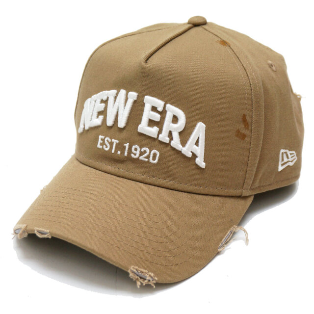 NEW ERA ニューエラ キャップ GOLF 9FORTY A-FRAME NEW ERA EST DAMAGE カーキ