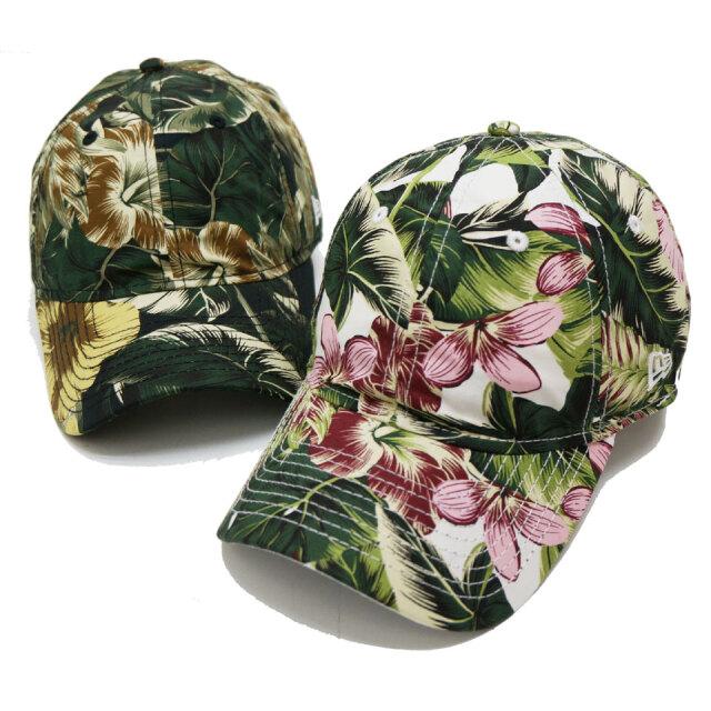 全2色 NEW ERA ニューエラ ローキャップ 9THIRTY BOTANICAL CAP ブラック ホワイト ボタニカル 花柄