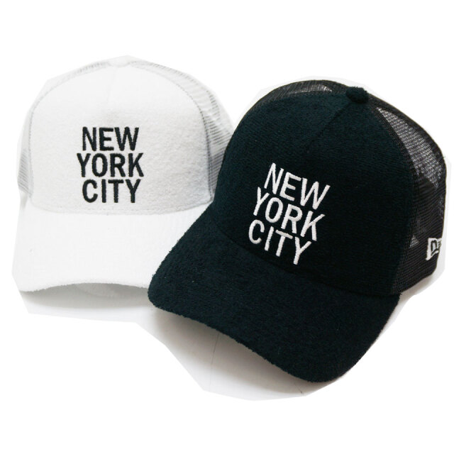 NEW ERA ニューエラ メッシュキャップ 9FORTY A-FRAME PILE NEW YORK 帽子 キャップ ブラック ホワイト