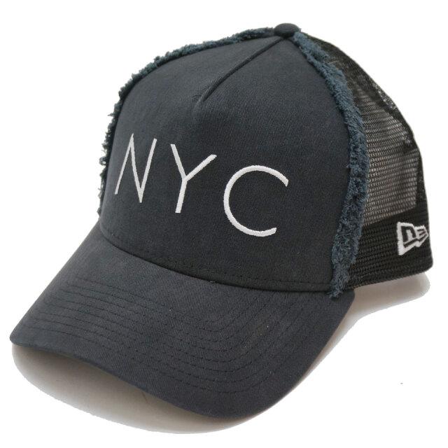 NEW ERA ニューエラ メッシュキャップ 9FORTY A-FRAME TRUCKER COLD WASH NYC CAP 帽子 キャップ ブラック