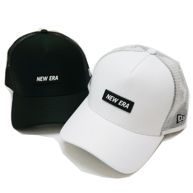 NEW ERA ニューエラ メッシュキャップ 9FORTY A-FRAME TRUCKER RUBBER PATCH CAP 帽子 キャップ ブラック ホワイト