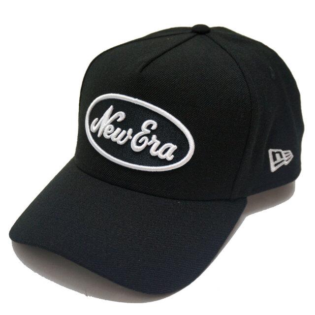 NEW ERA ニューエラ キャップ 9FORTY A-FRAME OVAL LOGO CAP キャップ 帽子 ブラック