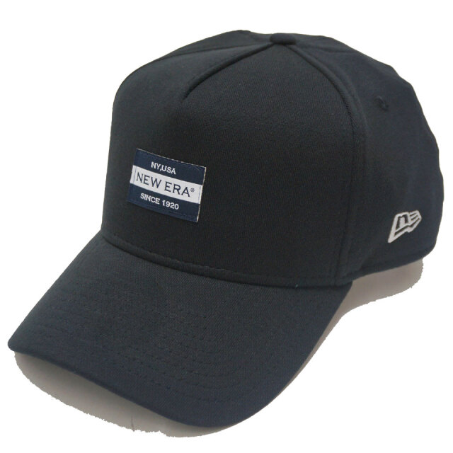 NEW ERA ニューエラ キャップ 9FORTY A-FRAME SWEAT LABEL CAP キャップ 帽子 ブラック
