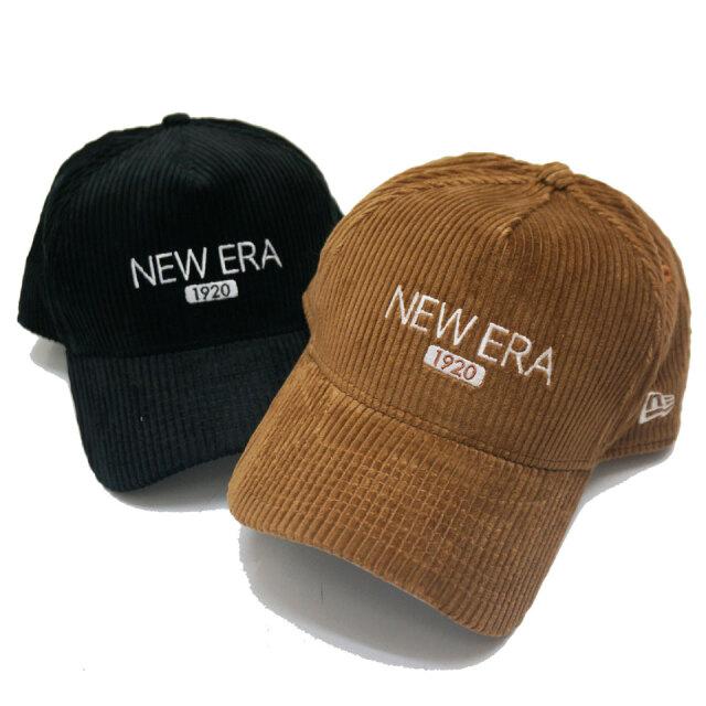 NEW ERA ニューエラ キャップ 9FORTY A-FRAME CORDUROY LOGO CAP キャップ 帽子 ブラック