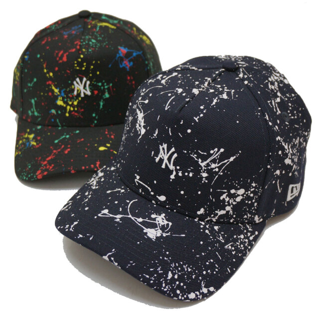 NEW ERA ニューエラ キャップ 9FORTY A-FRAME NY SPLASH PAINT CAP キャップ 帽子 ブラック ネイビー