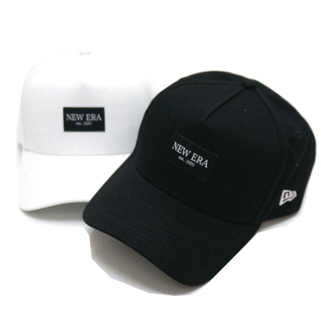 NEW ERA ニューエラ キャップ 9FORTY A-FRAME PATCH CAP キャップ 帽子 ブラック ホワイト