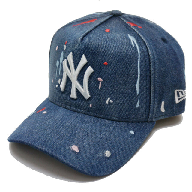 NEW ERA ニューエラ キャップ 9FORTY A-FRAME NY SPLASH DENIM EMBROIDERED CAP キャップ 帽子 デニム