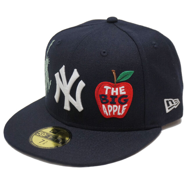 NEW ERA ニューエラ キャップ 59FIFTY NY YANKEES MULTI LOGO CAP フィッテッドキャップ ネイビー