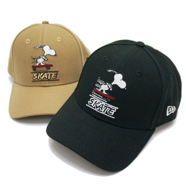 NEW ERA ニューエラ キャップ 9FORTY PEANUTS SNOOPY SKATE CAP ブラック カーキ