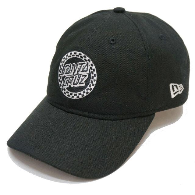 ニューエラ NEW ERA ローキャップ 9THIRTY SANTA CRUZ CIRCLE CHECKER CAP キャップ 帽子 ブラック 黒 BLACK