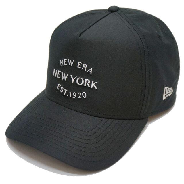 ニューエラ NEW ERA キャップ 9FORTY A-FRAME SHELTECH EST.1920 CAP 帽子 ニューヨーク シェルテック ブラック