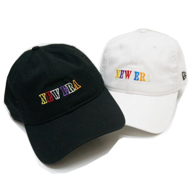 ニューエラ NEW ERA ローキャップ 9THIRTY MULTI COLOR LOGO CAP キャップ 帽子 ブラック ホワイト