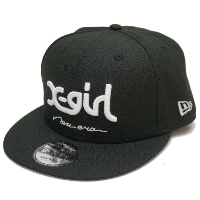 ニューエラ NEW ERA × X-GIRL エックスガール スナップバックキャップ 9FIFTY MILLS LOGO CAP キャップ 帽子 コラボ ブラック
