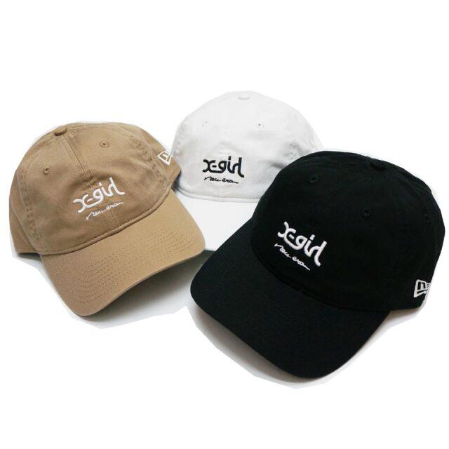 ニューエラ NEW ERA × X-GIRL エックスガール ローキャップ 9THIRTY MILLS LOGO CAP キャップ 帽子 コラボ ブラック ホワイト ベージュ