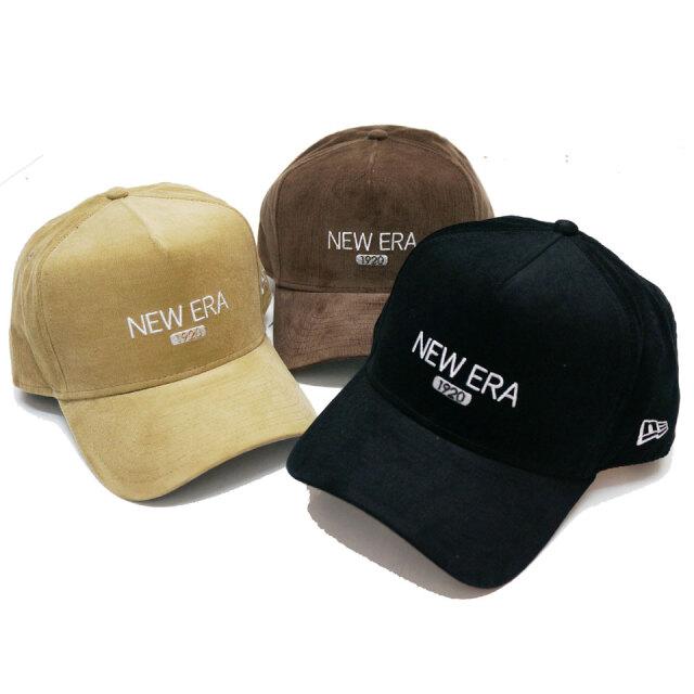 ニューエラ NEW ERA キャップ 9FORTY A-FRAME MICRO CORDUROY 1920 CAP ブラック ブラウン ベージュ