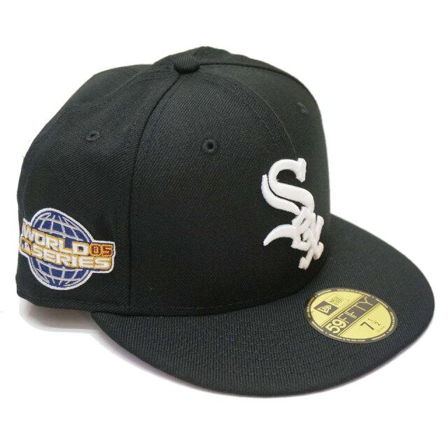 ニューエラ NEW ERA キャップ 59FIFTY FITTED CAP WHITE SOX WORLD SERIES 帽子 ホワイトソックス ブラック
