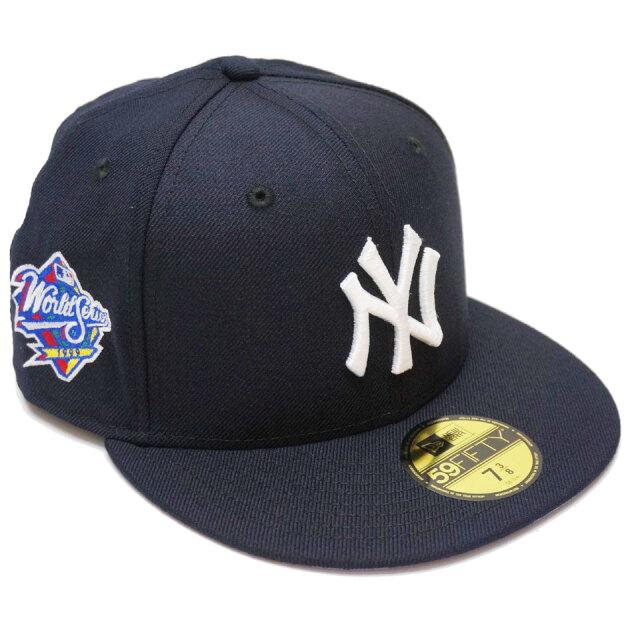 ニューエラ NEW ERA キャップ 59FIFTY FITTED CAP NY WORLD SERIES 帽子 ヤンキース ニューヨーク NEWYORK YANKEES ネイビー