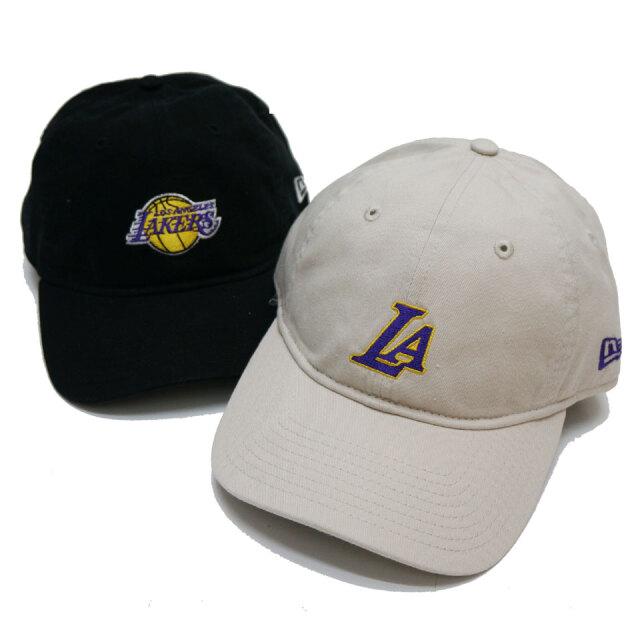 ニューエラ NEW ERA ローキャップ 9THIRTY NBA LOS ANGELES LAKERS CAP キャップ 帽子 ブラック ストーン