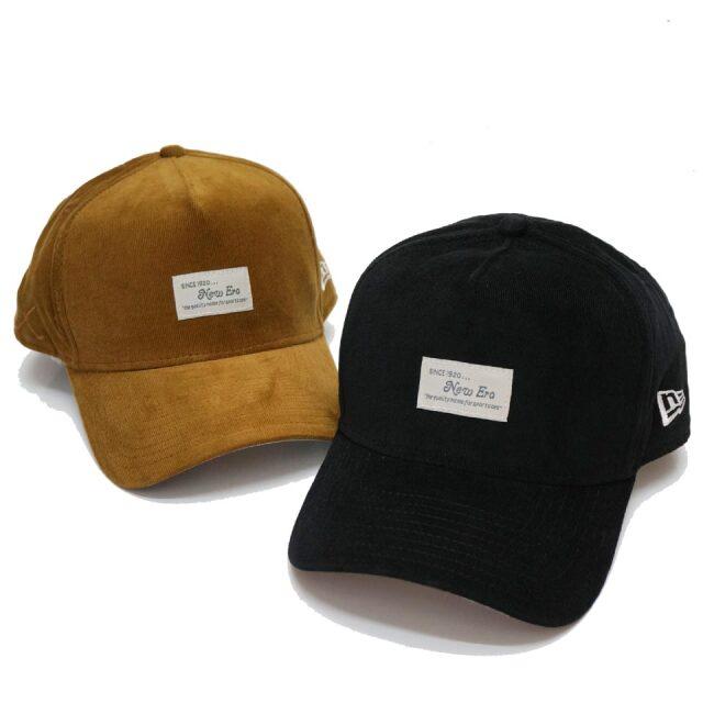 ニューエラ NEW ERA キャップ 9FORTY A-FRAME MICRO CORDUROY PATCH CAP ブラック ブラウン