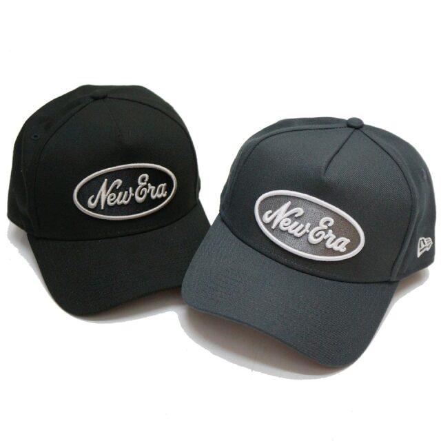 ニューエラ NEW ERA キャップ 9FORTY A-FRAME OVAL LOGO CAP ブラック チャコールグレー