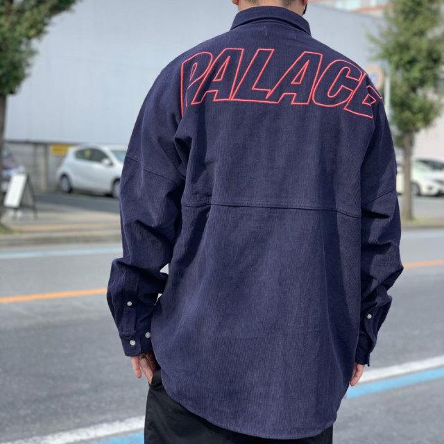 PALACE SKATEBOARDS コーデュロイシャツ CORD L/S SHIRT ビッグシルエット ネイビー