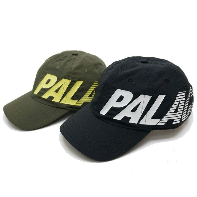 PALACE SKATEBOARDS ローキャップ SIDE SLIDE 6PANEL CAP ブラック オリーブ