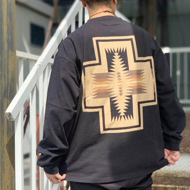 全2色 ペンドルトン PENDLETON ロンT Tシャツ BACK PRINT L/S Tee HARDING バックプリント ブラック オフホワイト