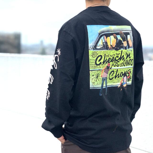 POT MEETS POP ポットミーツポップ CHEECH & CHONG LOS COCHINOS L/S Tee ロンT Tシャツ ホワイト ブラック