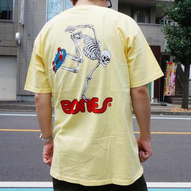 全3色 パウエルペラルタ POWELL PERALTA Tシャツ SKATEBOARD SKELTON S/S Tee ホワイト ブラック イエロー
