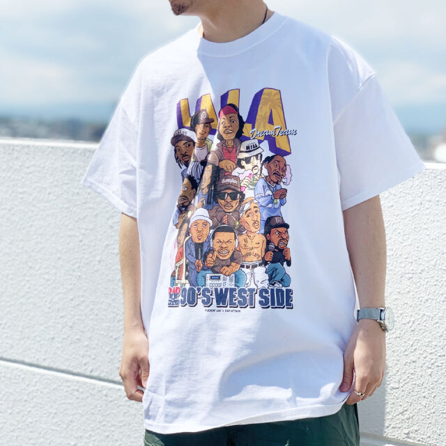 全3色 RAP ATTACK ラップアタック LA LA S/S Tee Tシャツ ラップT ホワイト ブラック パープル
