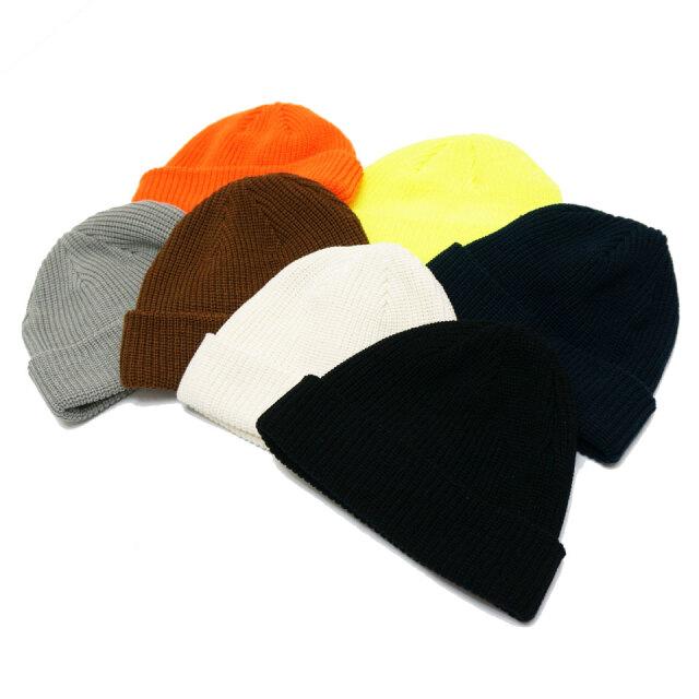 全7色 RE:NEW リニュー ローワッチキャップ LOW WATCH CAP ニットキャップ ブラック オフホワイト ネイビー グレー キャメル ネオンイエロー ネオンオレンジ