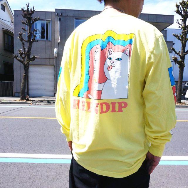 リップンディップ RIPNDIP ロンT Tシャツ LICK ME L/S Tee 長袖 イエロー バナナ