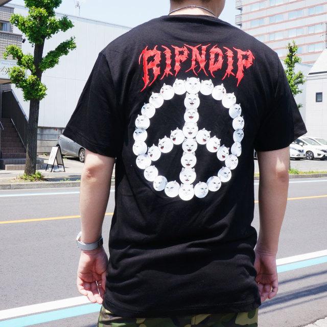 SALE セール RIPNDIP リップンディップ Tシャツ EXPRESSION S/S Tee ブラック 黒 BLACK