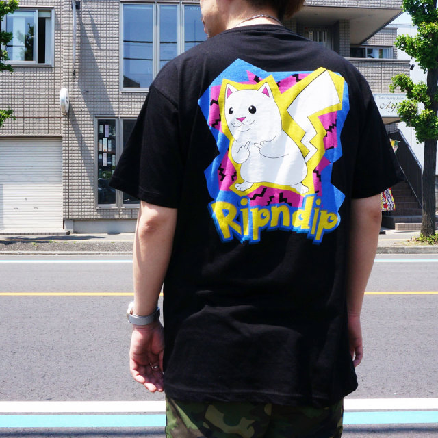 RIPNDIP リップンディップ Tシャツ CATCH EM ALL S/S Tee ブラック 黒 BLACK