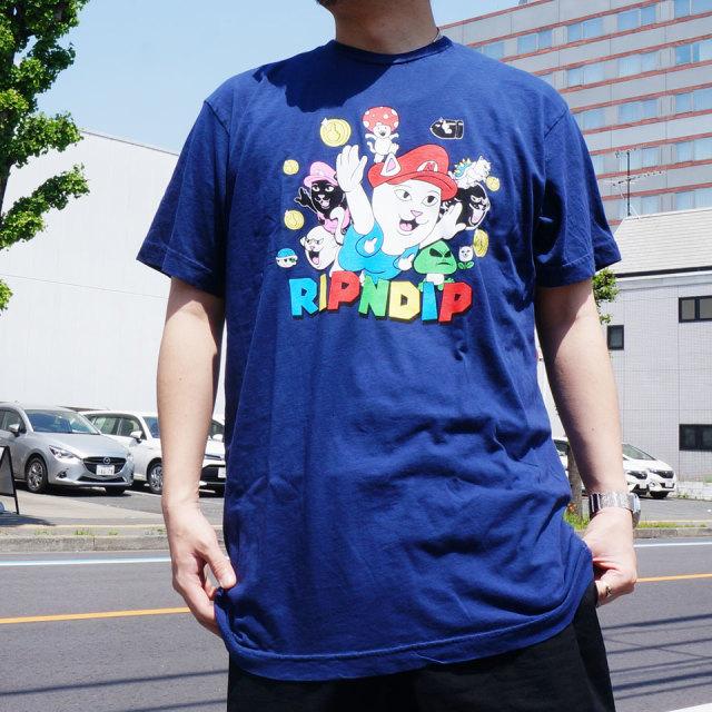 RIPNDIP リップンディップ Tシャツ NERMIO S/S Tee ネイビー 紺 NAVY