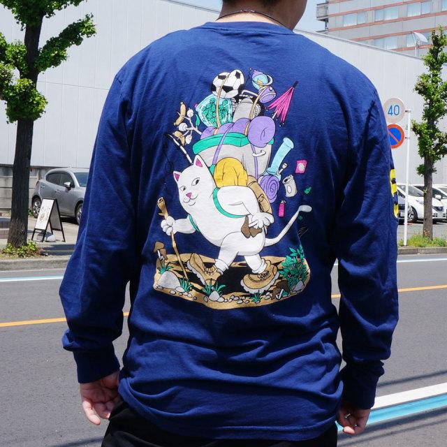 リップンディップ RIPNDIP ロンT Tシャツ HIKER NERM L/S Tee 長袖 ネイビー 紺 NAVY