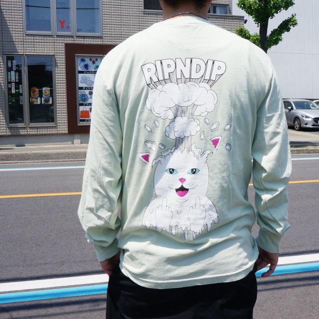 リップンディップ RIPNDIP ロンT Tシャツ MIND BLOWN L/S Tee 長袖 ミント MINT