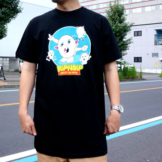 RIPNDIP リップンディップ Tシャツ NERM STORY S/S Tee ブラック 黒 BLACK